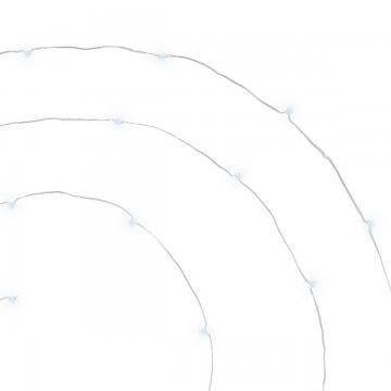 GUIRNALDA CABLE PLATA 40 LEDS