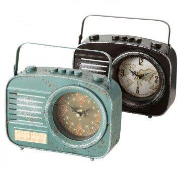 RELOJ RADIO METAL 2 COL.