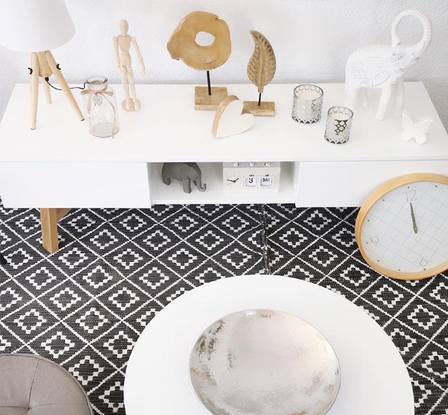 estilo decorativo nordico empleando colores blancos