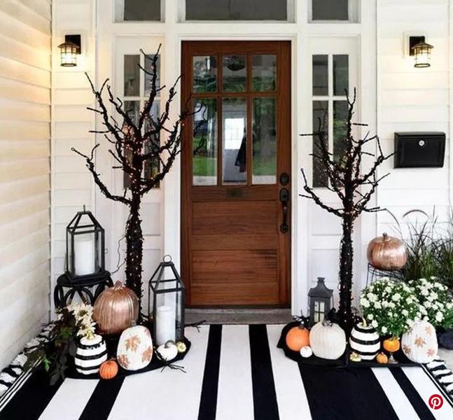 decoración de la entrada en halloween