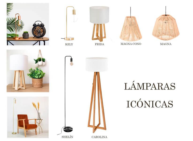decorar con lámparas icónicas de Casika