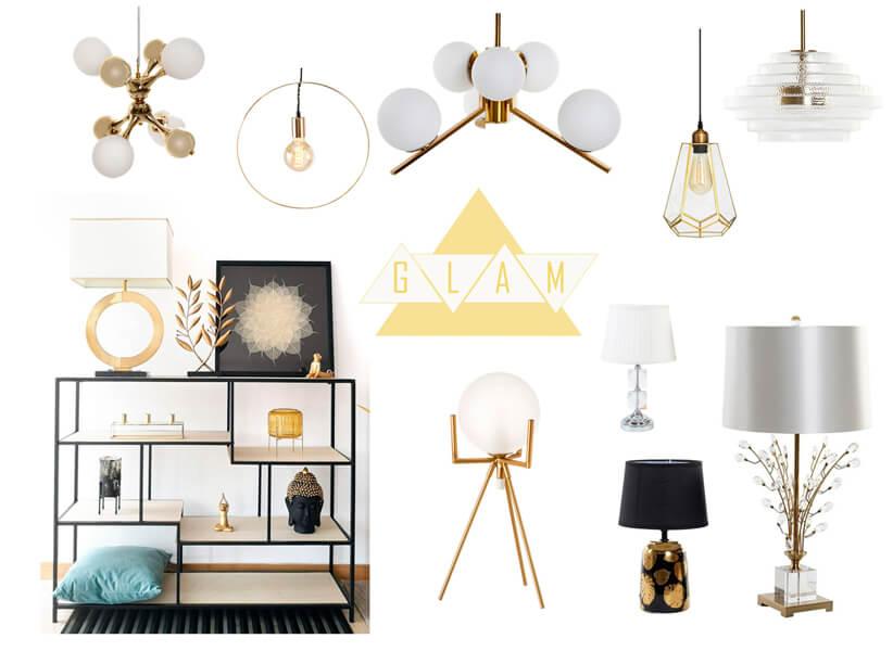 Decorar con lámparas de estilo Glam