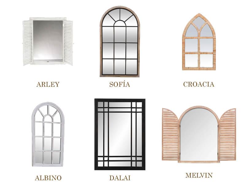espejos para recibidor de Casika