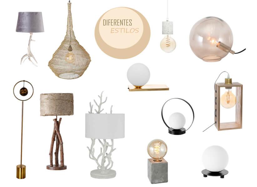 Diferentes estilos de lámparas en Casika