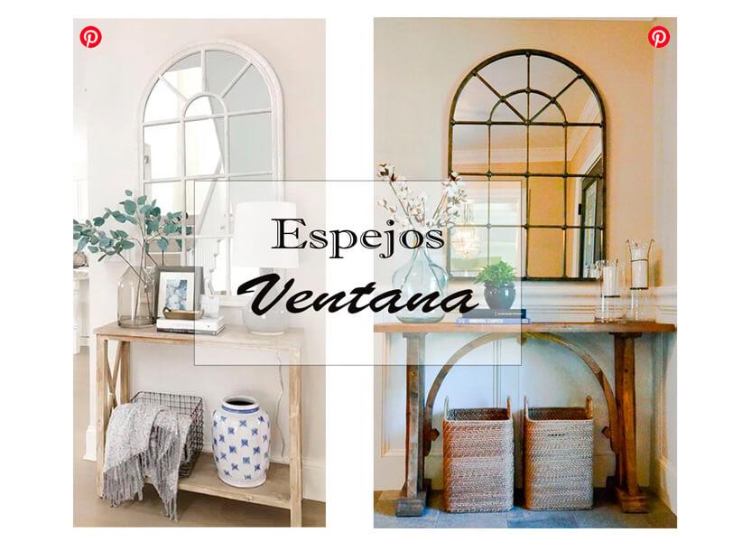 Ideas para decorar un recibidor con espejos