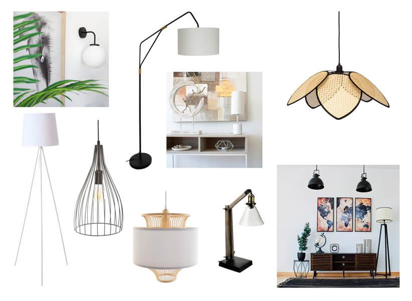 tipos de lámparas de Casika