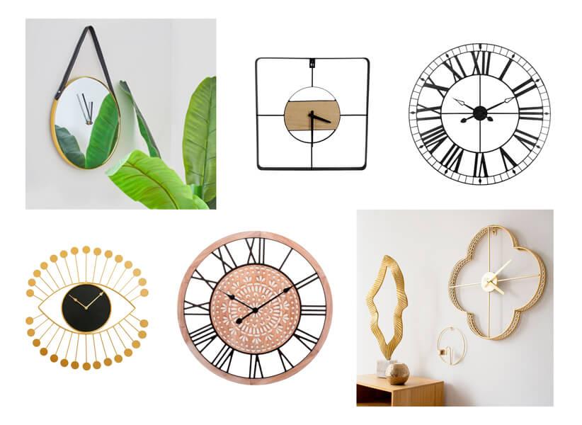 Decoración de paredes con relojes