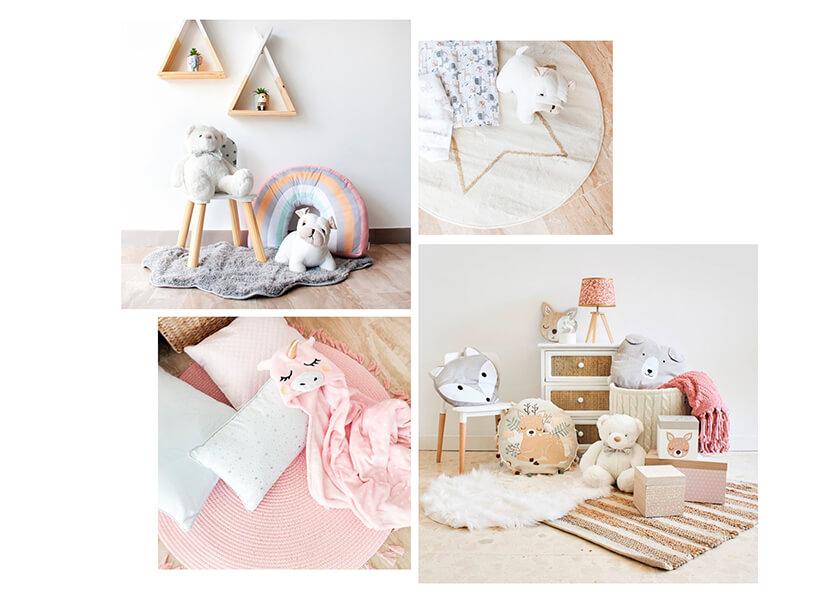 Selección de artículos de decoración textil infantil en Casika