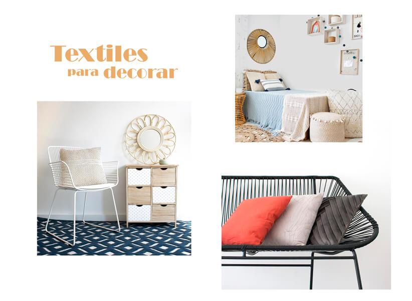 Selección de textiles para decorar en Casika