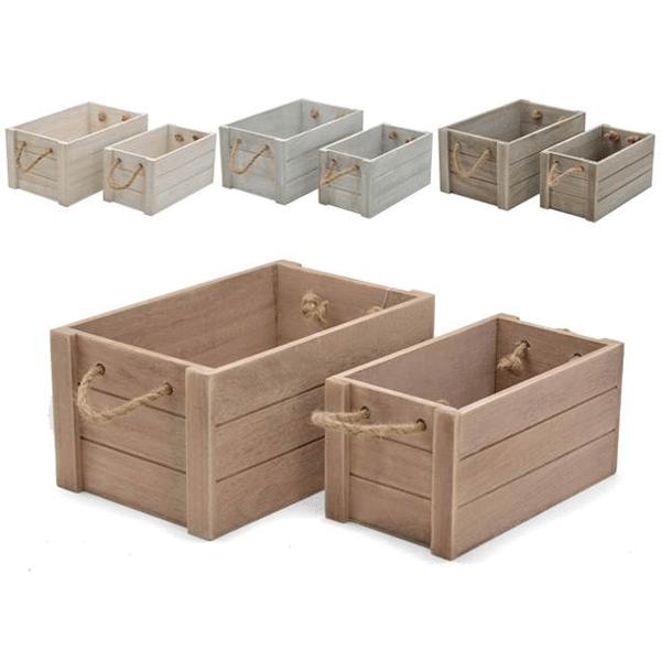 Con cajitas de madera top caja multiuso para beb madera pintada a mano with con cajitas de - Cajas de madera online ...