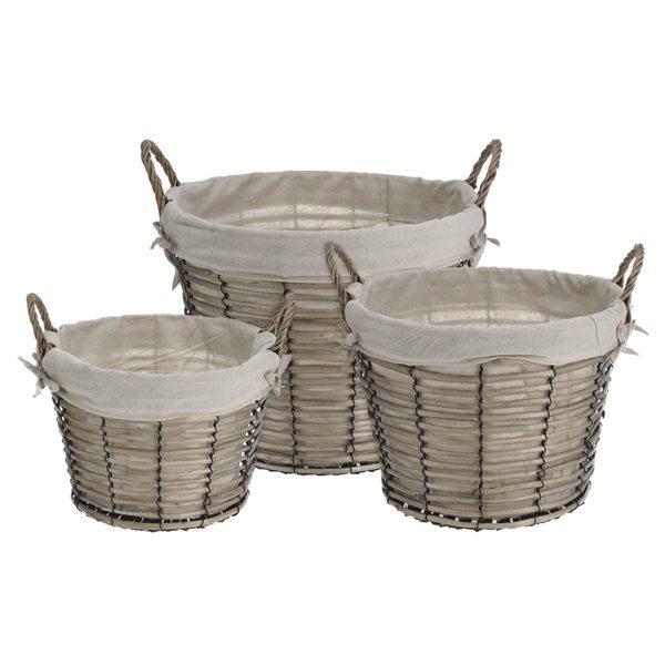 Decora de forma natural tu baño con cestos de la ropa de mimbre