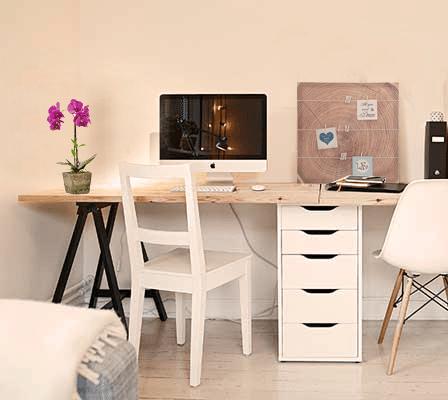 Consejos para crear y decorar tu espacio de trabajo en casa casika - Como decorar un despacho en casa ...