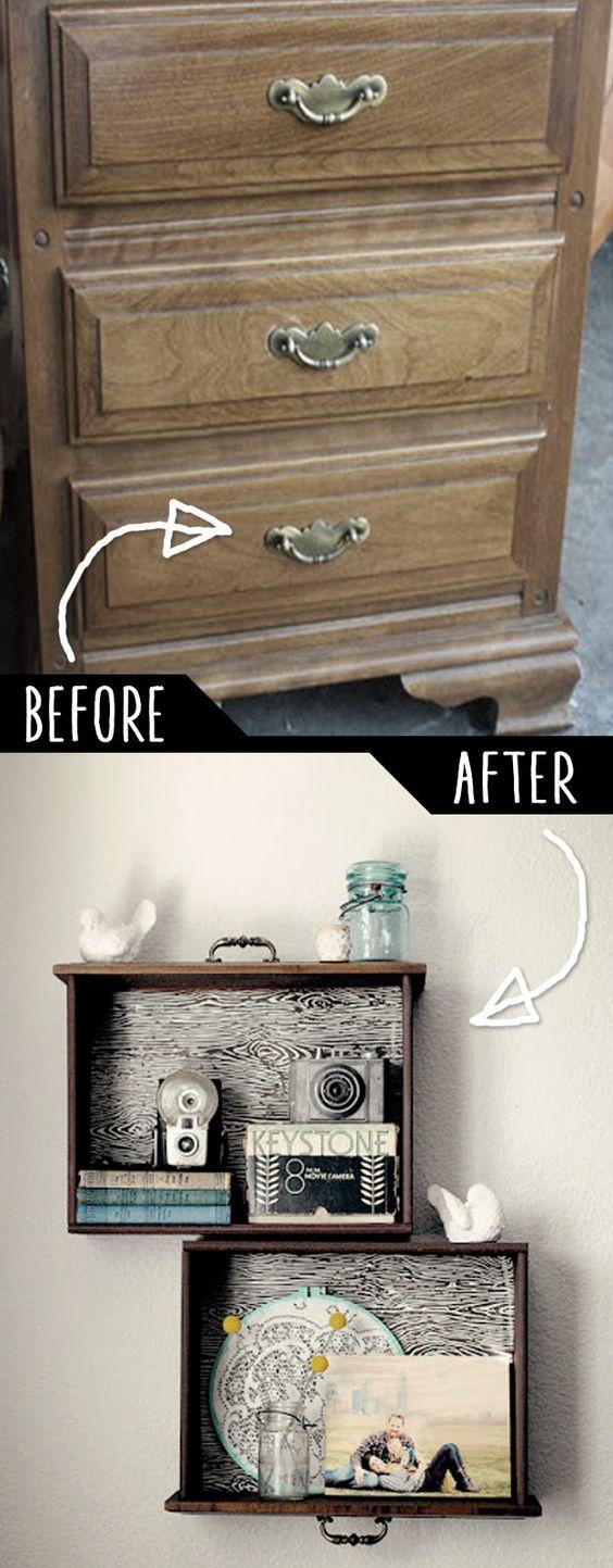 decorar paredes con mobiliario reformado
