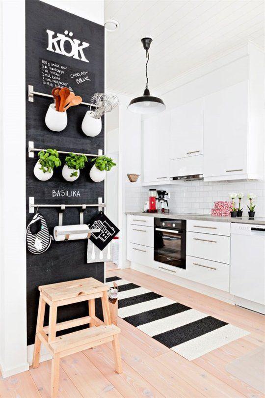 ideas para decoración DIY de las paredes de la cocina