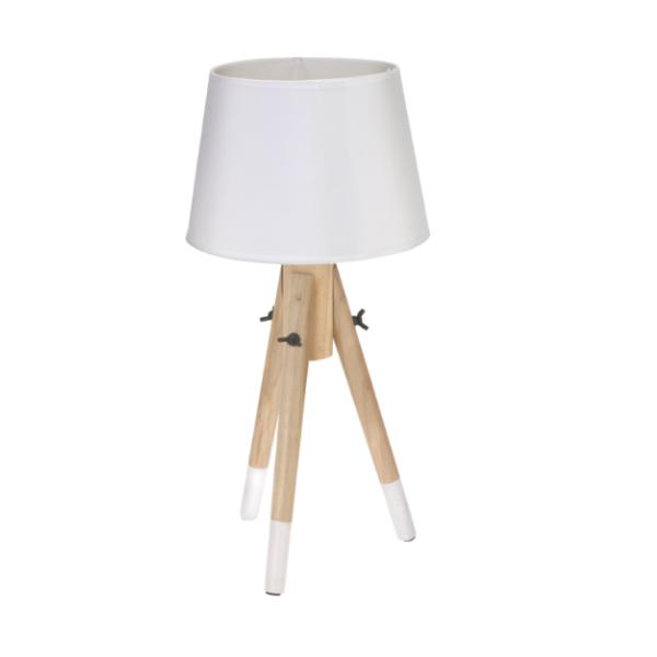 L mpara de mesa blanca 3 patas estilo n rdico casika for Lamparas estilo escandinavo