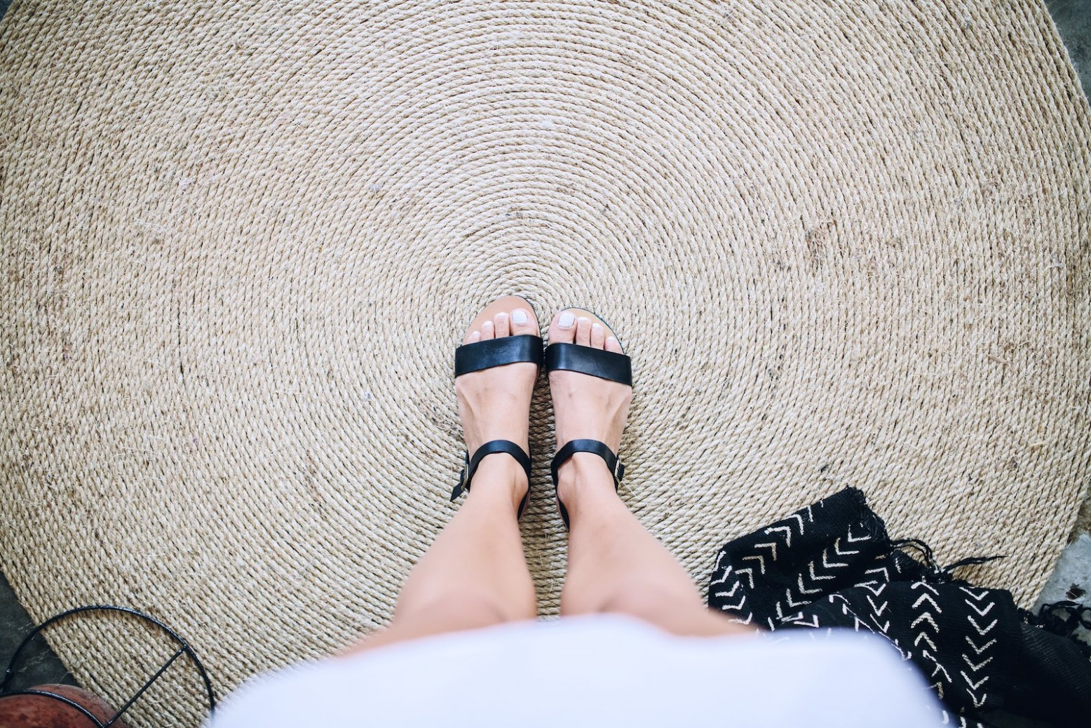 resultado final de tu alfombra de fibra natural casera