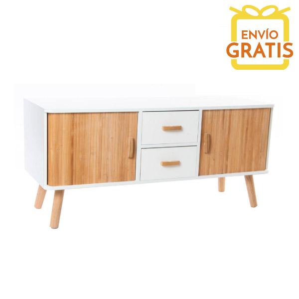 Mueble de televisi n de bamb estilo n rdico casika - Mueble estilo nordico ...