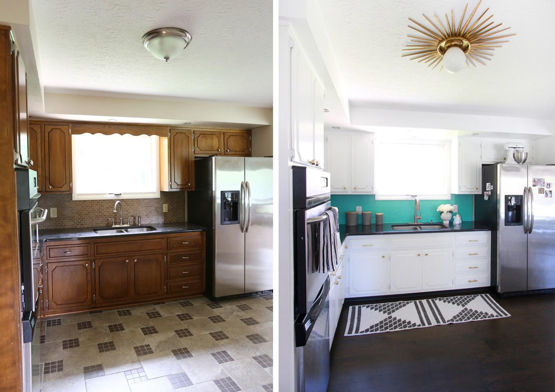 el antes y después de una reforma de la cocina sin obra