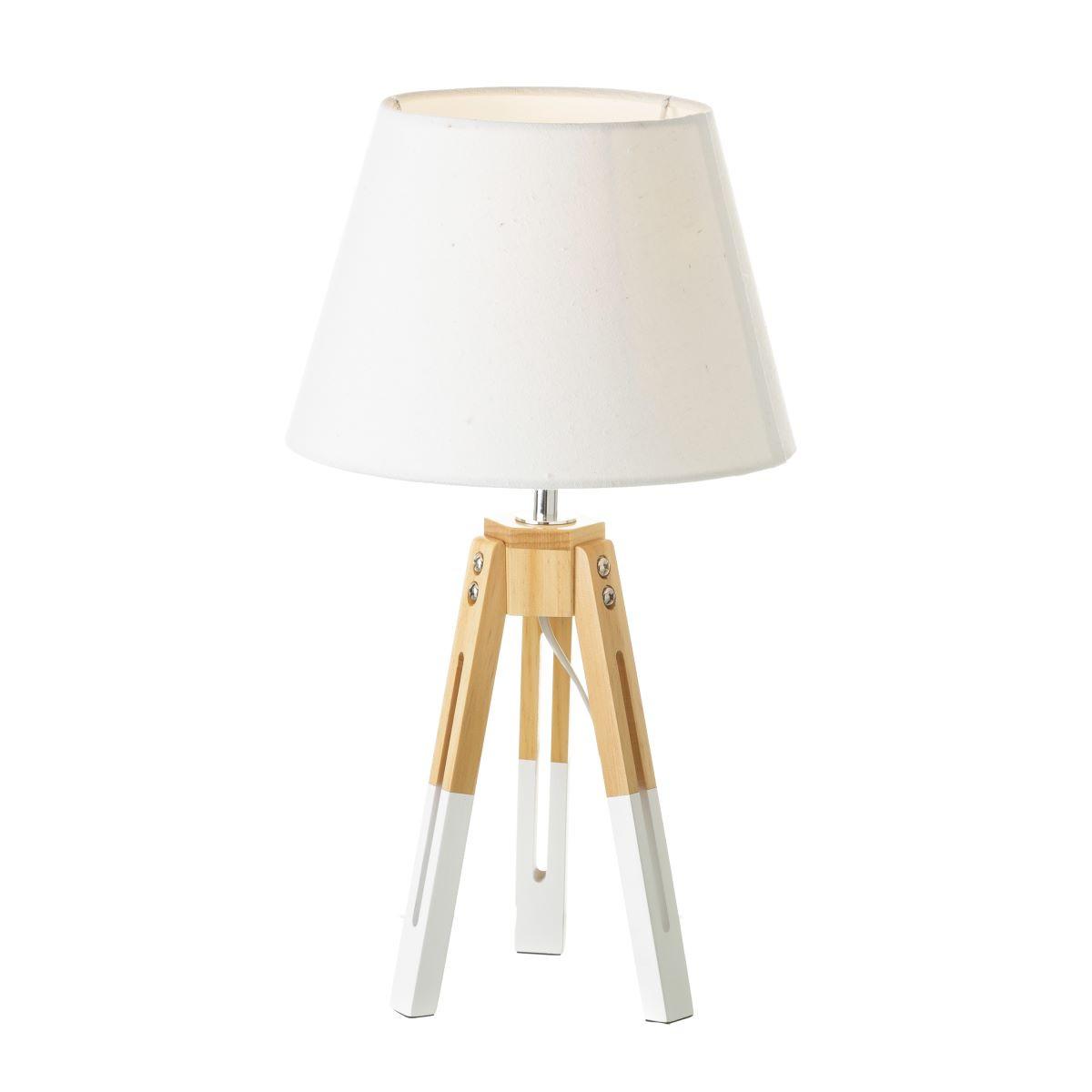 L mpara blanco madera estilo n rdico casika for Lamparas estilo escandinavo