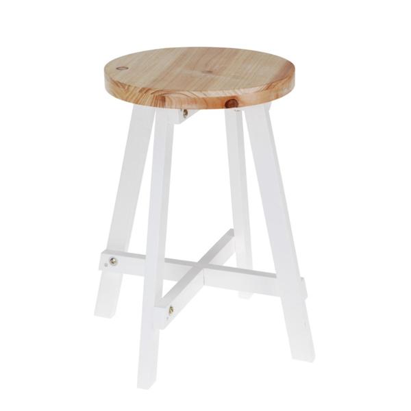 Taburete de madera con patas blancas estilo n rdico casika - Nordicos zara home ...