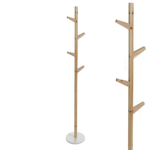 Perchero madera nordic casika - Percheros en madera ...
