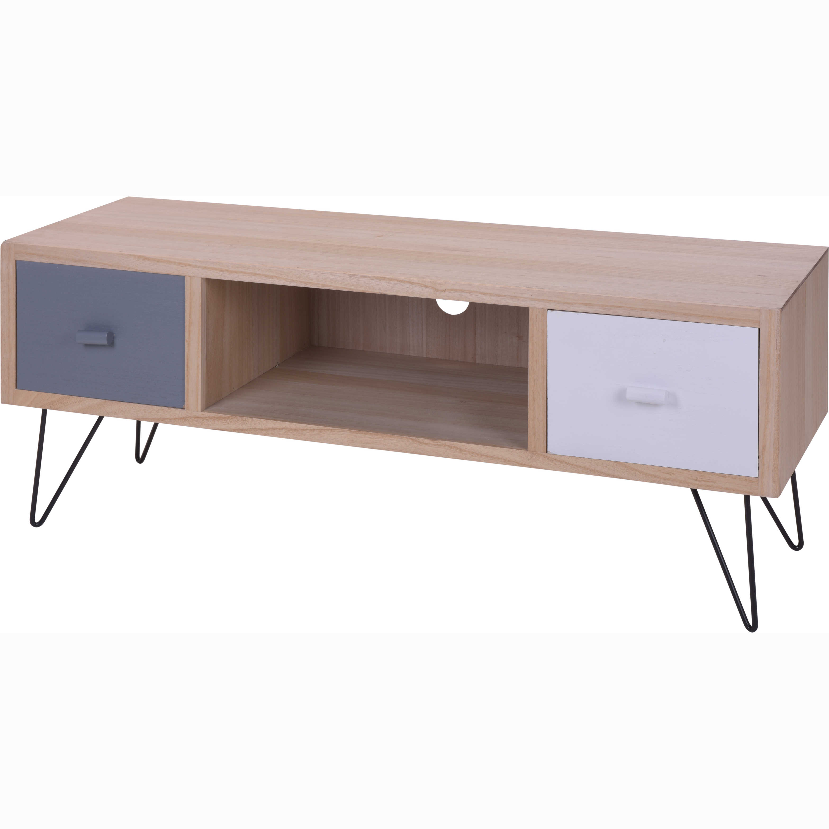 Mueble tv gris blanco casika for Mueble blanco pared